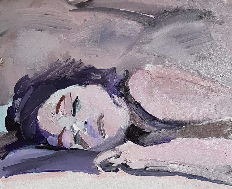 011Avigail Sleeps_2017_Oil on canvas_40x50 cm
