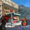 104Gaz Station 2018 Oil on canvas 90x70 cm