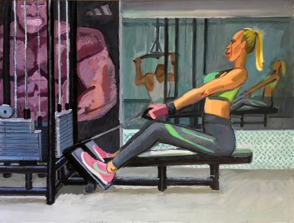 108At the gym 2 Oil on linen 120x90 cm
