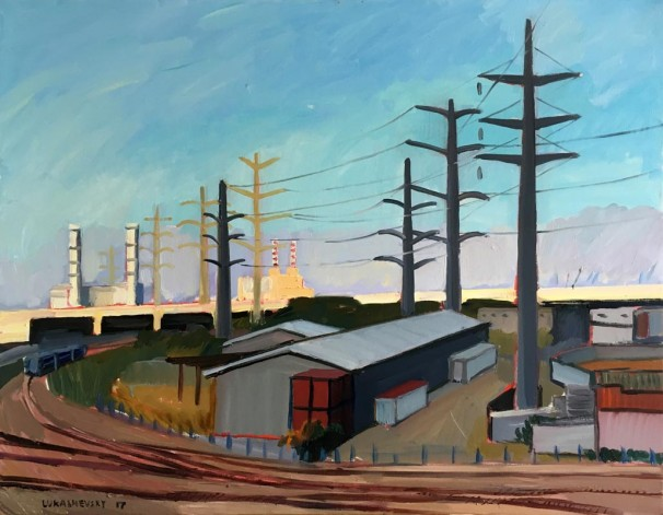111Paz Bridge 2018 Oil on canvas 90x70 cm