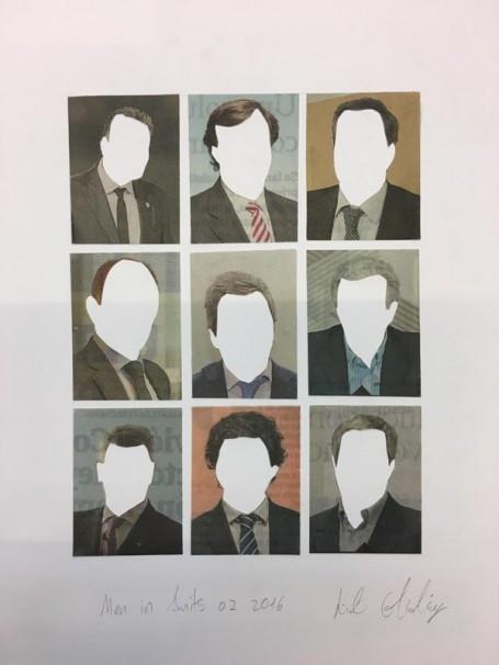 317 Men in Suits No.2_2016_Collage_24x28 cm
