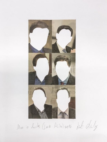 320Men in Suits (Look Alike)_2016_Collage_18x25 cm