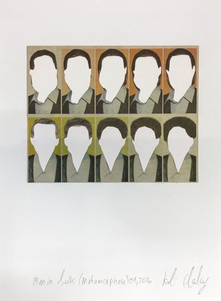 321Men in Suits (Metamorphose No.1)_2016_Collage_18x25 cm