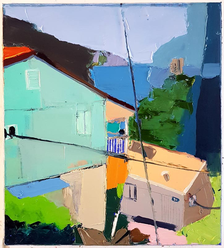 033Once Upon a Time in Haifa_2018_Oil on linen_50x45 cm