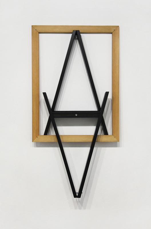 101Alpha-Axis_2018_ Wooden frame and Trestle Leg_257x112 cm