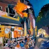 107Jerusalem Evening Cafe_2018_Oil on linen_ 50x60 cm