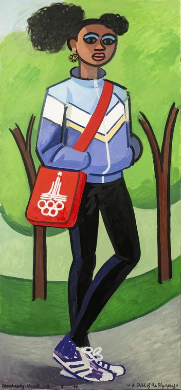 509A child of the Olympics_2019_Oil on linen_150x70 cm