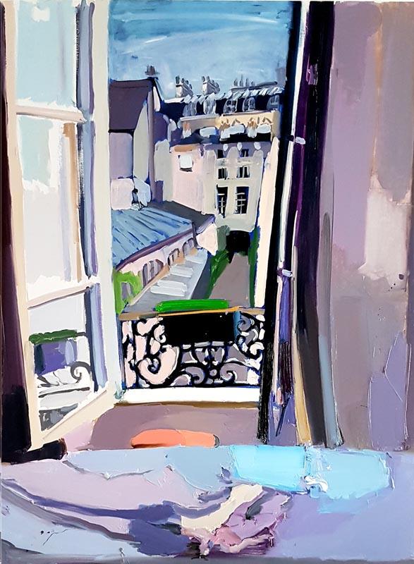 015Bedroom Reflections_2019_Oil on linen_122x92 cm