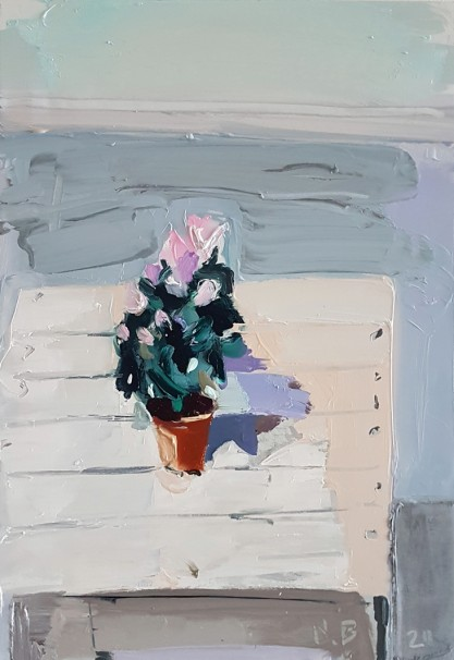 016Flowers for Saturday_2020_Oil on linen_50x35 cm