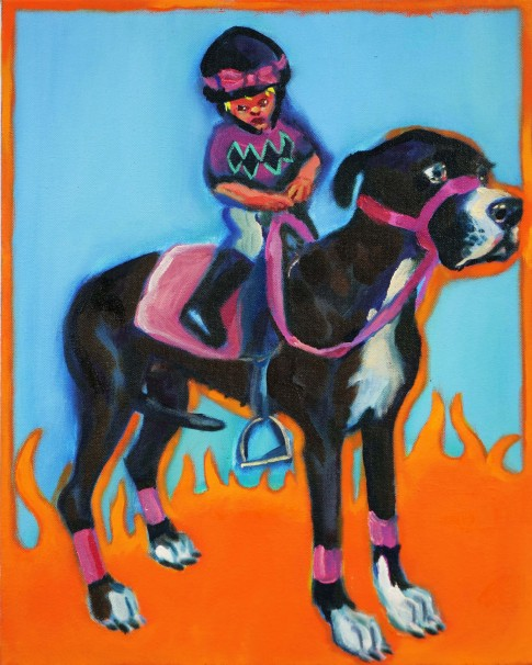 119Jockey_ 2019_Oil on canvas_50x40 cm