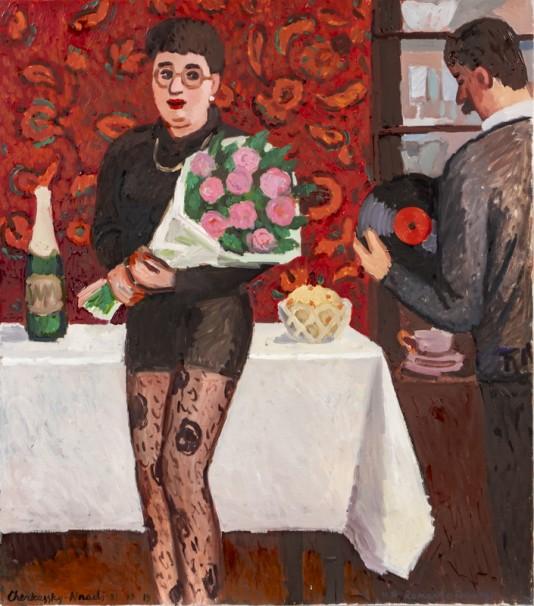 511 A Romantic Evening_ 2019_Oil on linen_ 90x80 cm