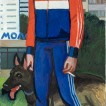514 A Girl in Adidas Suit_ 2019_Oil on linen_ 140x65 cm